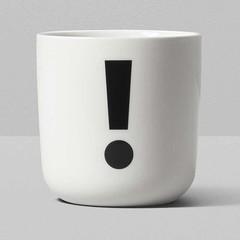 Playtype porcelain mug with punctuation mark