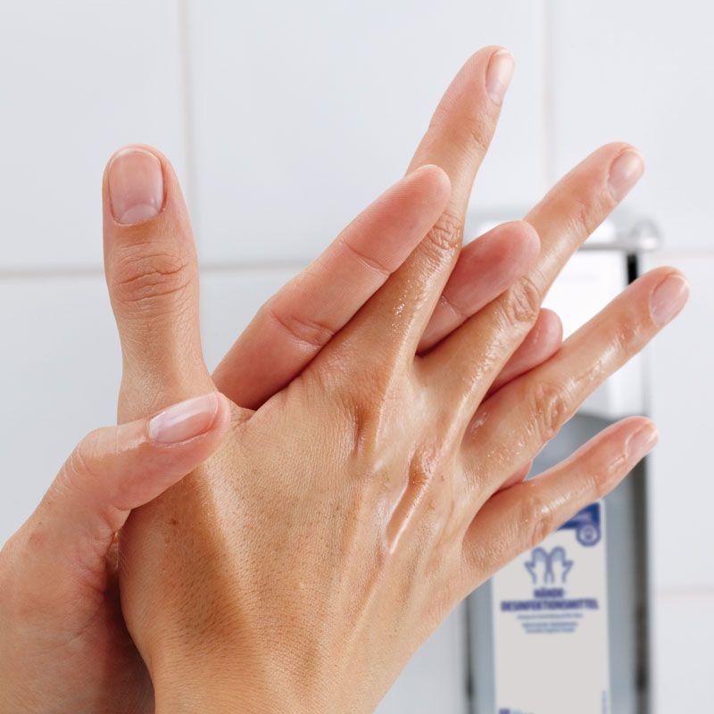 handdesinfectans inwrijven