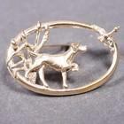 Gold plated brooch of the Labrador Retriever