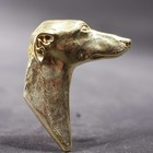 Gold plated brooch of the Whippet