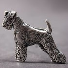 Silberne Brosche der Airedale Terrier