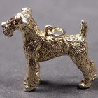 Gold plated pendant of the Airedale Terrier