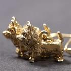 Vergoldete Ohrringe der Cairn Terrier