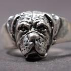 Silberner Ring der Bordeauxdogge