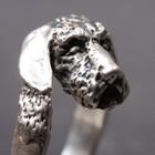 Silberner Ring der Teckel (rauhaar)
