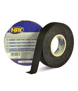 HPX Linnen tape 19 mm zwart