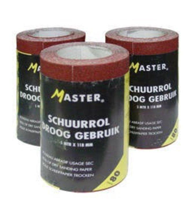 Master Schuurpapier P40 5m rol 118mm