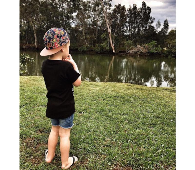 Beau Hudson Floral & tan cap