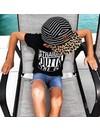Beau Hudson Stripes on leopard cap