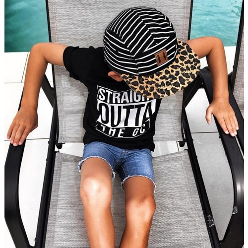 Beau Hudson Beau Hudson Stripes on leopard cap