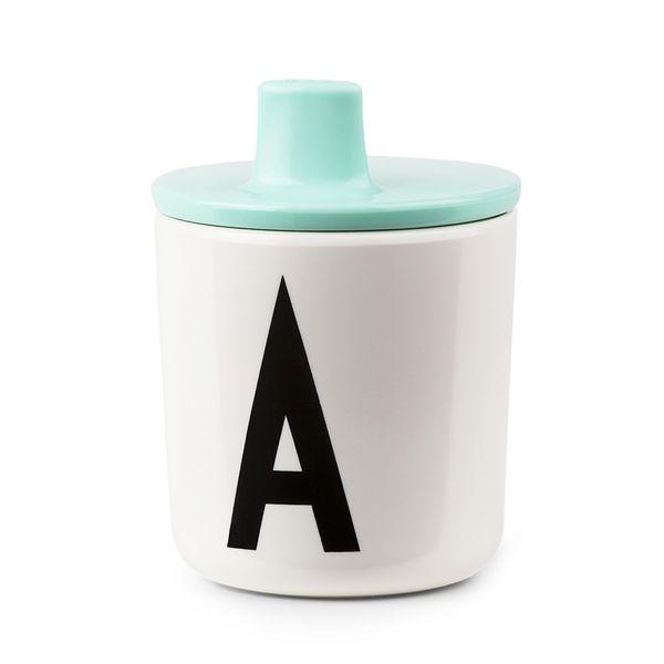Design Letters Drink Lid - Mint