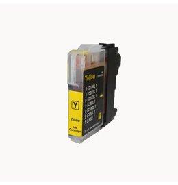 Brother LC980 / lC1100 Inktcartridge Geel (Huismerk)