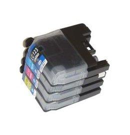 Brother LC123 Set 4 Cartridges voor Brother (Huismerk)