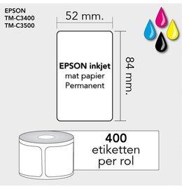 Epson Labels 52mm x 84mm 400 permanent mat inktjet