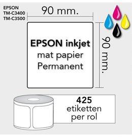 Epson Labels 90mm x 90mm 425 permanent mat inktjet
