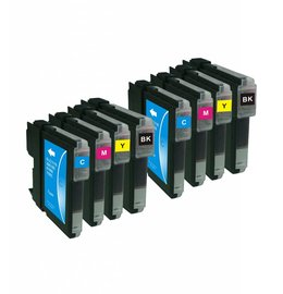 Brother LC980/LC985/LC1100 Set 8 Cartridges voor Brother