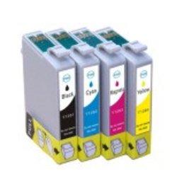 Epson T1281 Set 4 Cartridges XL voor Epson (Huismerk)
