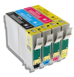 Epson T0715 Set 4 Cartridges voor Epson (Huismerk)