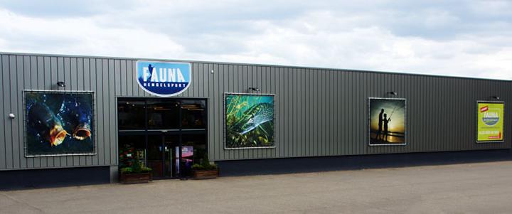 Voorzijde winkelpand Fauna Hengelsport