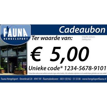 Fauna Hengelsport Cadeaubon €5