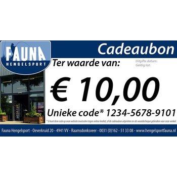Fauna Hengelsport Cadeaubon €10
