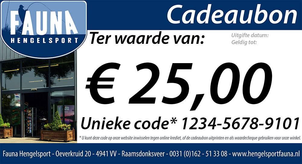 Fauna Hengelsport Cadeaubon €25