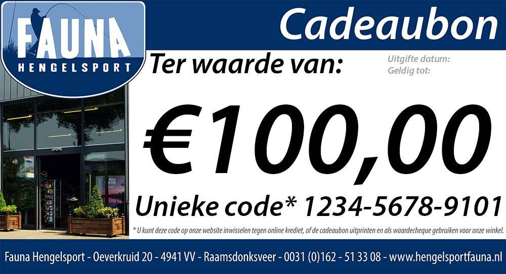 Fauna Hengelsport Cadeaubon €100