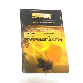 PB Products Downforce Tungsten X-Small Naked Chod Rubber & Bead