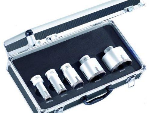 Carat diamant droogboor set haakse slijper Ø 20, 27, 35, 55, 72 mm x M14