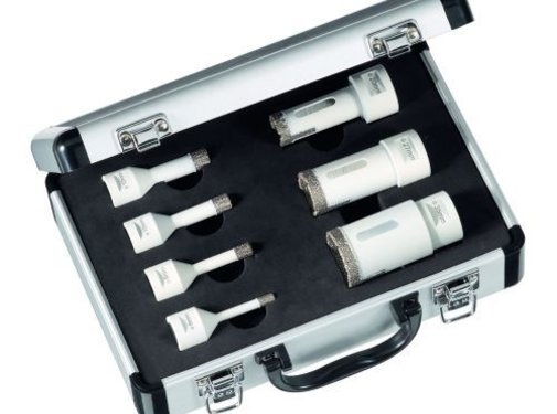 Carat Diamantdroogboorset voor wand en vloertegels Ø 6, 8, 10, 12, 20, 27, 35 mm x M14 haakse slijper