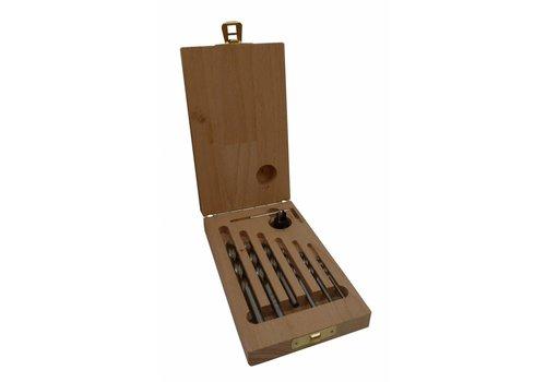 Vector Machinale houtboor set 7 dlg. 3 - 8 mm met verzinker