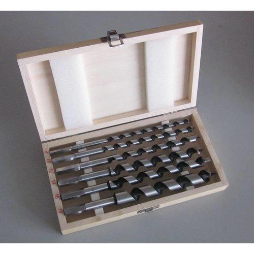 Labor Azobe slangenboren cassette hout 6 delig