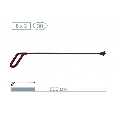 AV Tool 50cm 3 fulcrum whale tail with a 30mm wide tip