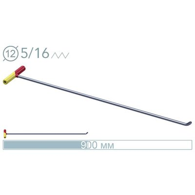 AV Tool 90cm ø12mm 45° screw-on tip rod