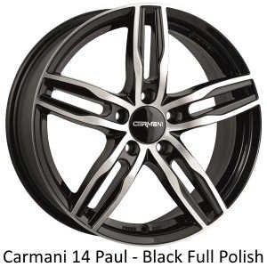 "Carmani Wheels Carmani "" 14 Paul "" 7,5 x 17 Audi,Ford,Fiat,Mercedes,Mitsubishi,Nissan,Renault,Seat,Skoda,VW ....."