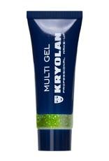 Kryolan Multigel Glitter type Coarse kleur Pearl Green