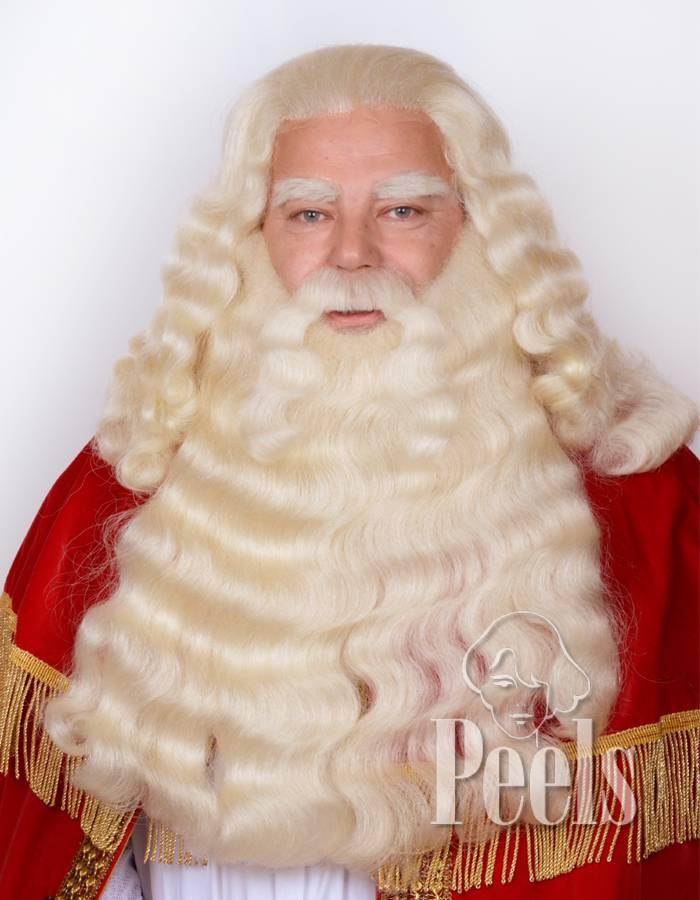Peels haarmode Sint baard en pruik deluxe filmtule verlengd