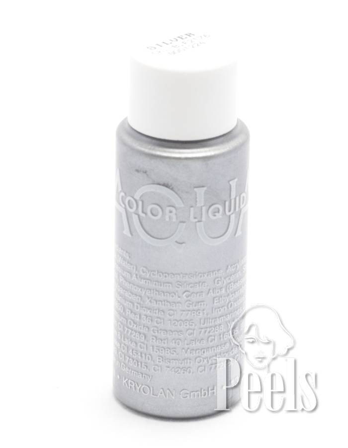 Kryolan Aquacolor liquid interferenze body make up kleur silver G