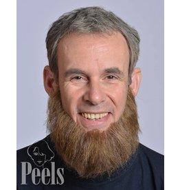 Kryolan Handgeknoopte volle baard, recht gesneden
