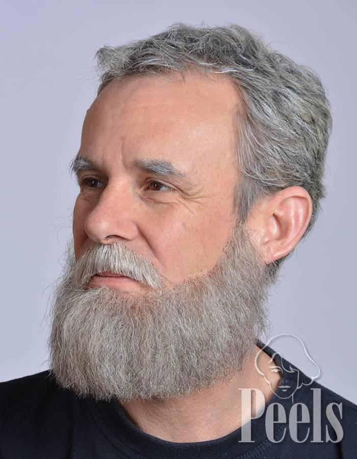 Kryolan Handgeknoopte volle baard van echt haar, type 9235