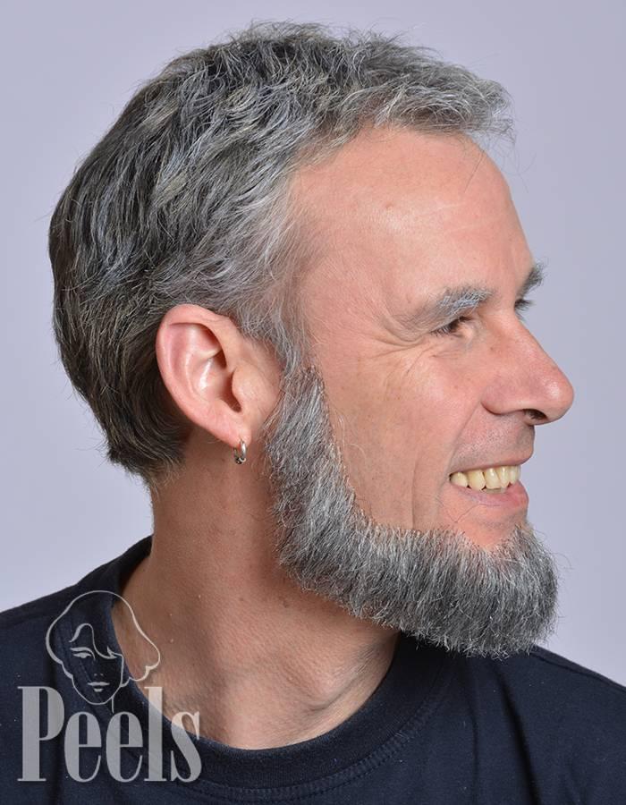 Kryolan Handgeknoopte volle baard van echt haar, hoekig, type 9234