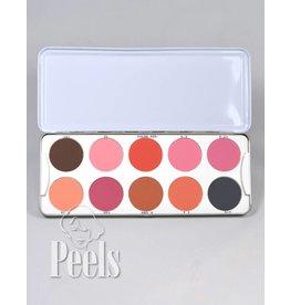 Kryolan Blusher Palette matt 10 kleuren