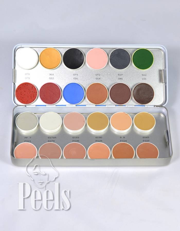 Kryolan Aquacolor palette 24 colors kleur N