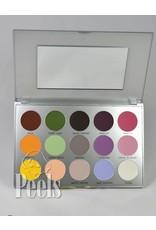 Kryolan Viva Matt Color Palette, 15 colors, kleur Sun