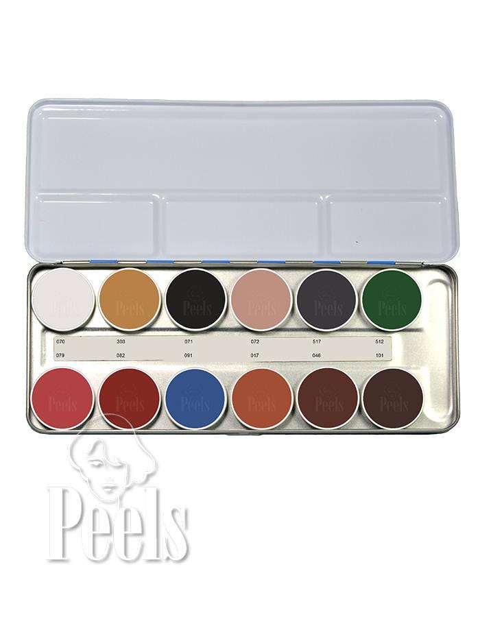 Kryolan Aquacolor palette 12 colors kleur B