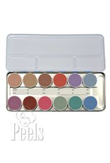 Kryolan Aquacolor palette 12 colors kleur P