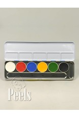 Kryolan Aquacolor palette 6 colors kleur A