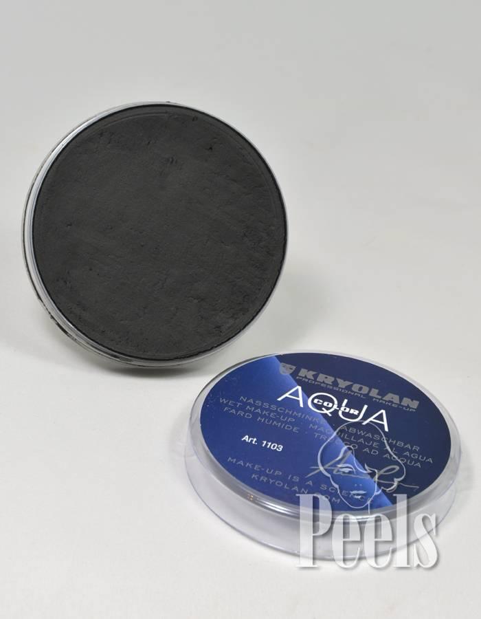 Kryolan Aquacolor 55 ml - zwart - kleurcode 071