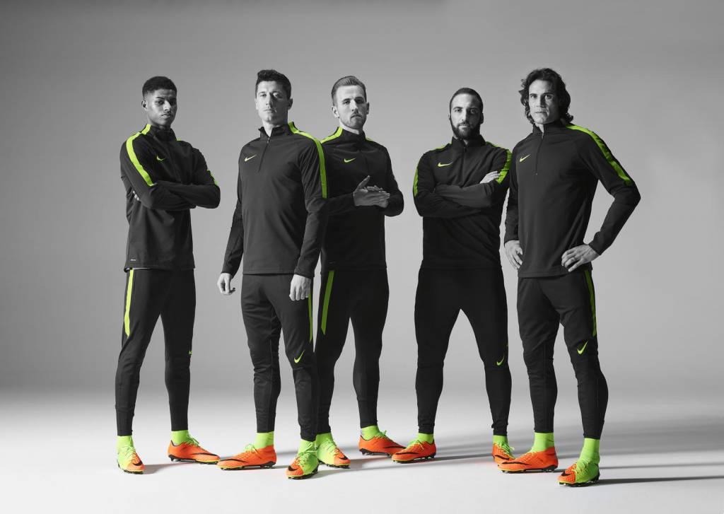 Nike Hypervenom 3 Poison Green/Hyper Orange colorway.