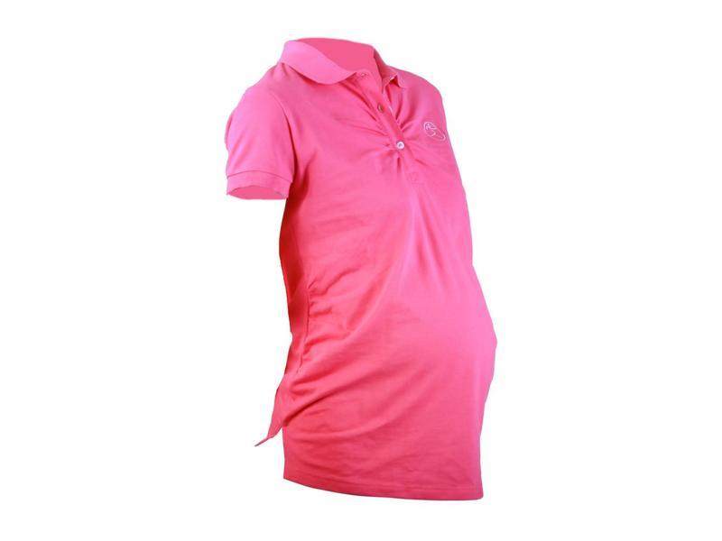 Active Mama Zwangerschaps poloshirt roze